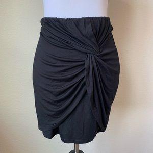 LUSH Black Gathered Fitted Skirt, sz Large
